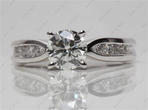 Platinum  Channel Rings