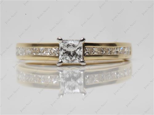 Gold  Channel Set Diamonds