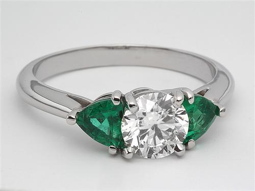 Platinum  Ruby Engagement Rings