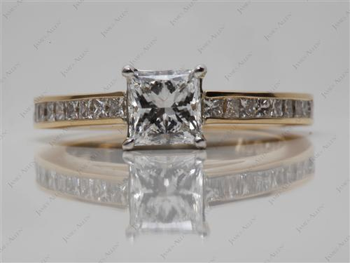 Gold  Channel Set Ring