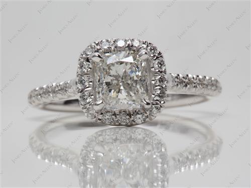 White Gold  Engagement Ring