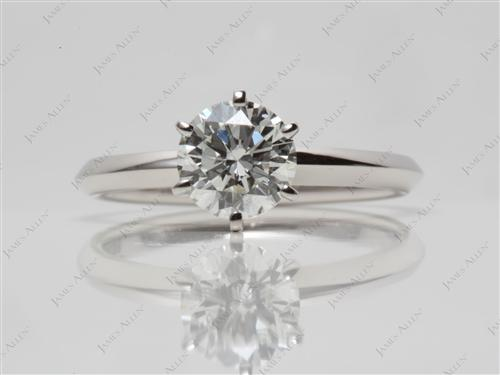 Platinum  Engagement Solitaire Rings