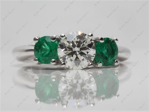 White Gold  Emerald Rings
