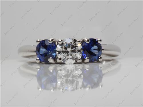 Platinum  Gemstones Ring