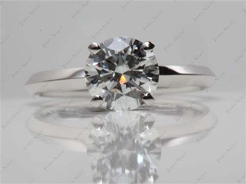 Platinum  Solitaire Ring