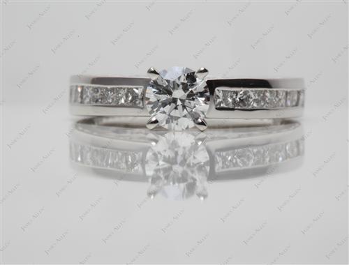 Platinum  Channel Cut Ring
