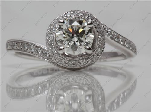 White Gold  Pave Rings