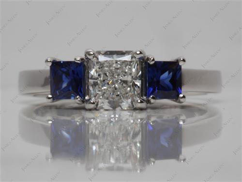 Platinum  Emerald Engagement Ring