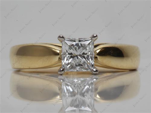 Gold  Solitaire Ring Mountings