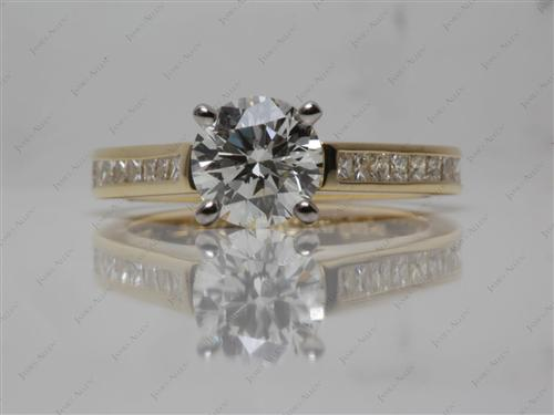Gold  Channel Setting Ring