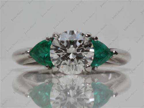 Platinum  Emerald Rings
