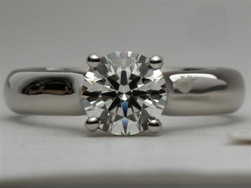 Platinum  Solitaire Engagement Rings