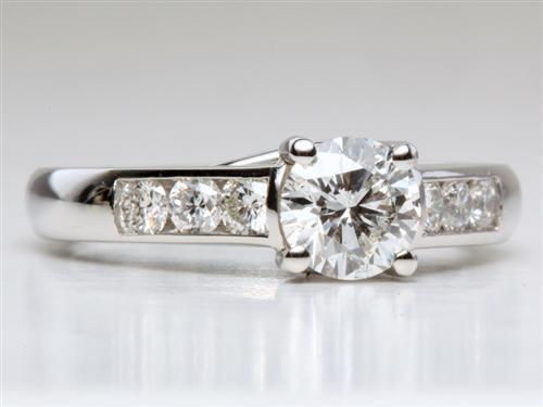 Platinum  Channel Set Engagement Rings
