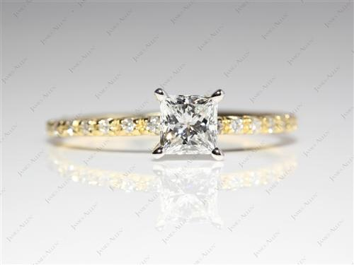 Gold  White Gold Wedding Sets