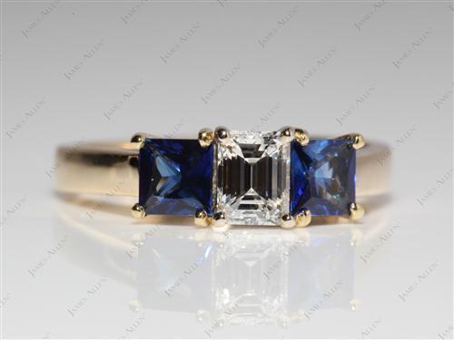 Gold  Gemstone Engagement Ring