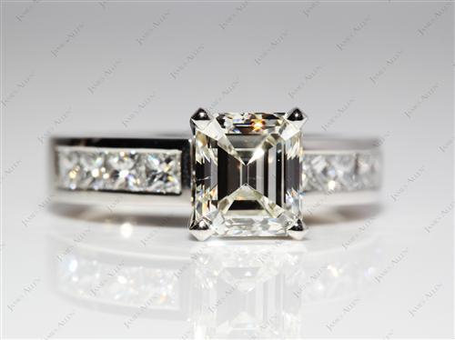 Platinum  Channel Engagement Ring