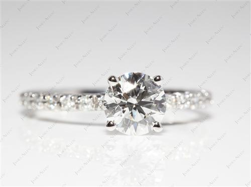 Platinum  Pave Ring Set