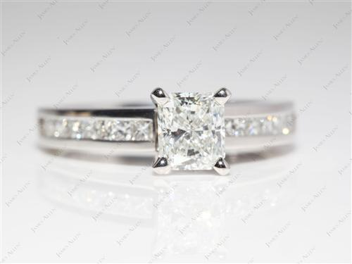 Platinum  Channel Set Diamonds