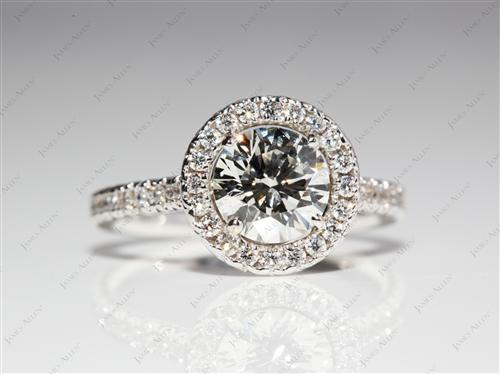 White Gold  Micro Pave Setting