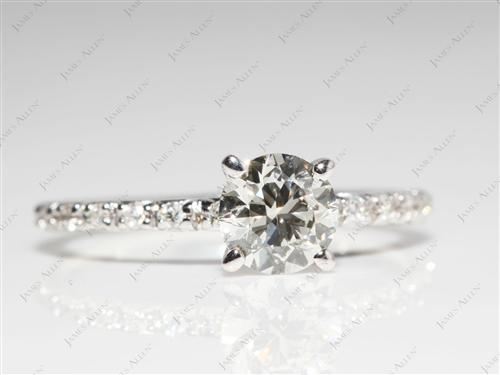 White Gold  Wedding Sets Jewelry