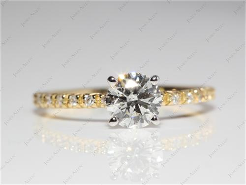 Gold  Wedding And Engagement Ring Sets