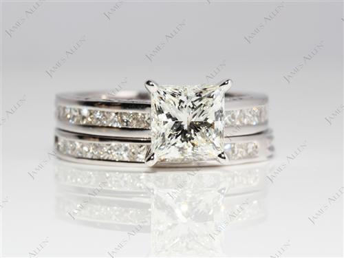 White Gold  Gold Wedding Ring Sets