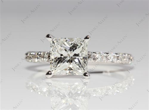 White Gold  Micro Pave Rings