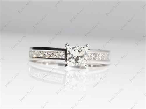 White Gold  Channel Set Eternity Rings