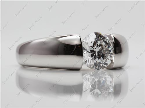 Platinum  Tension Engagement Rings