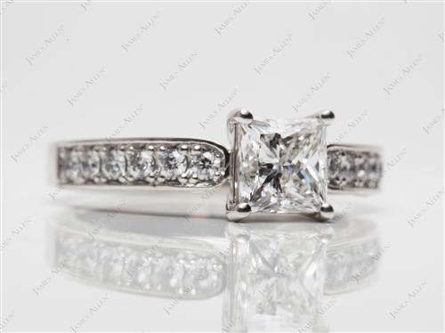 Platinum  Pave Rings