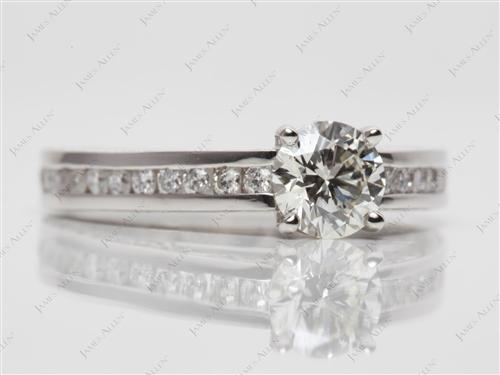 Platinum  Channel Set Rings