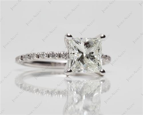 White Gold  Wedding And Engagement Ring Sets