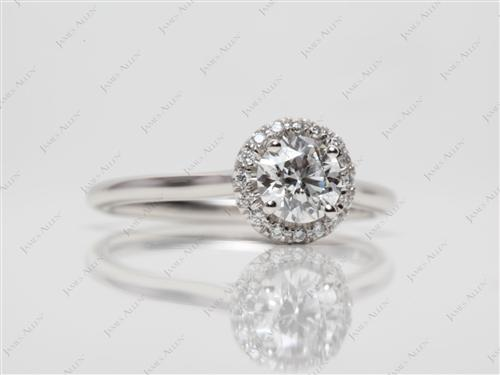 Platinum  Pave Ring Mountings