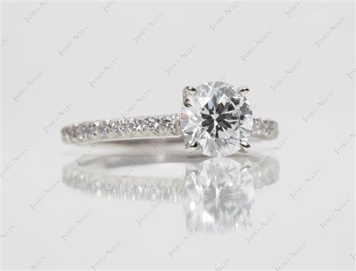 Platinum  Engagement Rings Pave