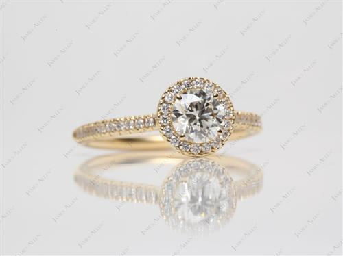 Gold  Pave Engagement Rings