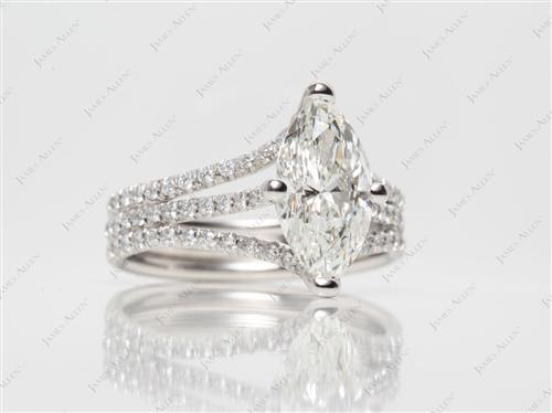 Platinum  Micropave Ring
