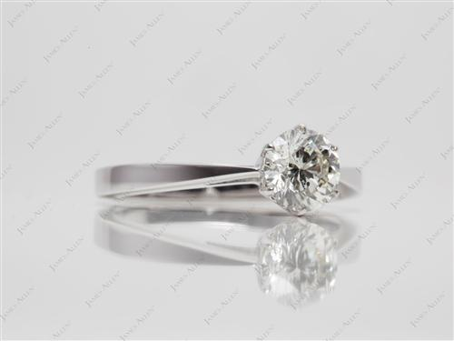 White Gold  Solitaire