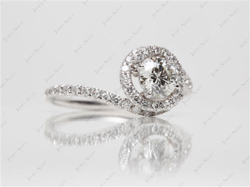 White Gold  Meno Engagement Rings