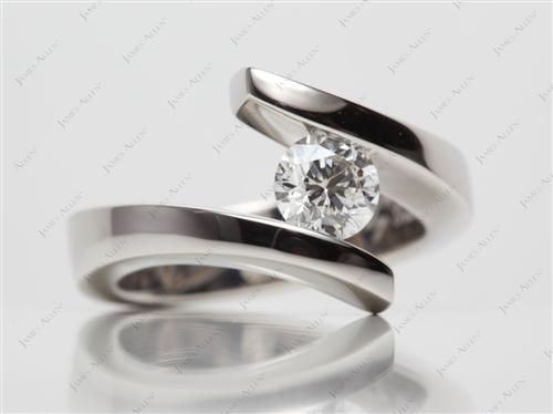 Platinum  Tension Ring Settings