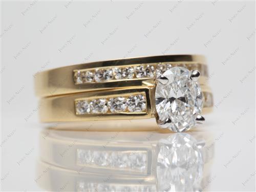 Gold  Bridal Set Wedding Rings