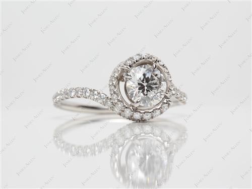 Platinum  Meno Engagement Rings