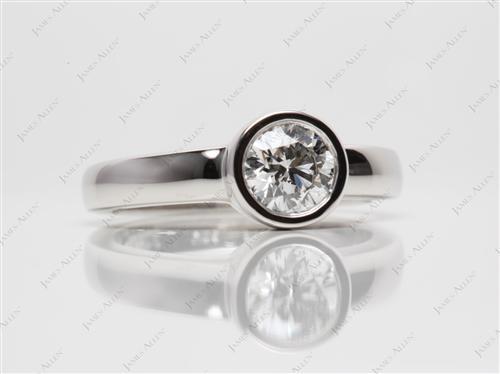 Platinum  Tension Set Engagement Rings