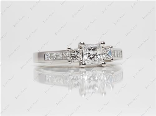 Platinum  Engagement Rings With Sidestones