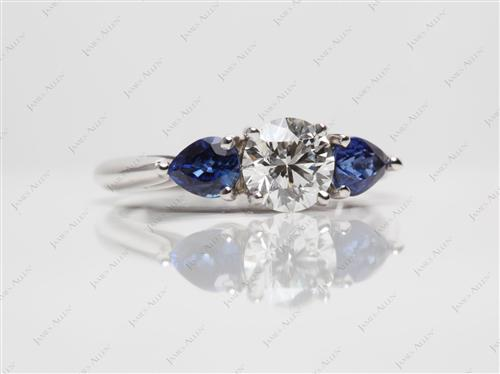 White Gold  Sapphire Engagement Rings