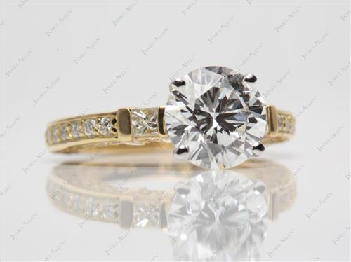 Gold  Pave Setting Rings