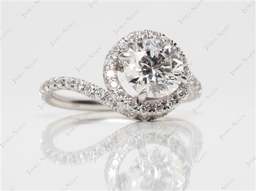 Platinum  Micropave Rings