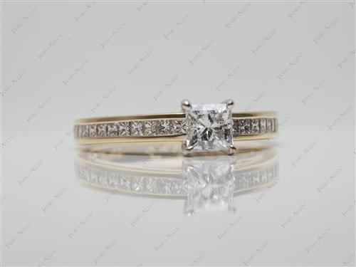 Gold  Channel Set Eternity Rings