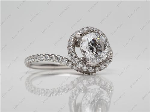 Platinum  Micro Pave Engagement Rings