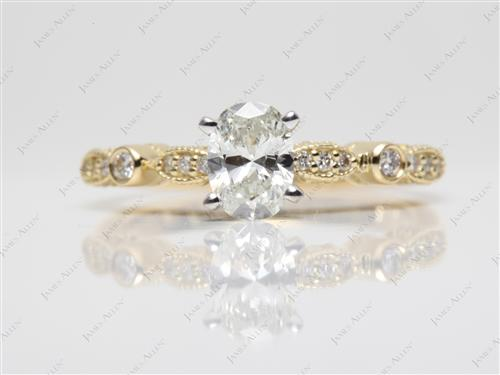 Gold  Engagement Ring Settings With Side Stones
