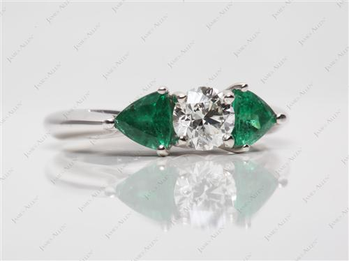 White Gold  Emerald Cut Ring